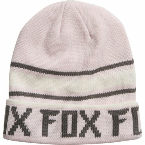New Fox Racing Womens Pale Pink Track Cap Hat Beanie