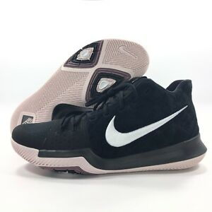 low priced 46097 1e2d2 Details about Nike Kyrie 3 Black White Silt Red 852395-010 Men's 11-13  Basketball Shoes