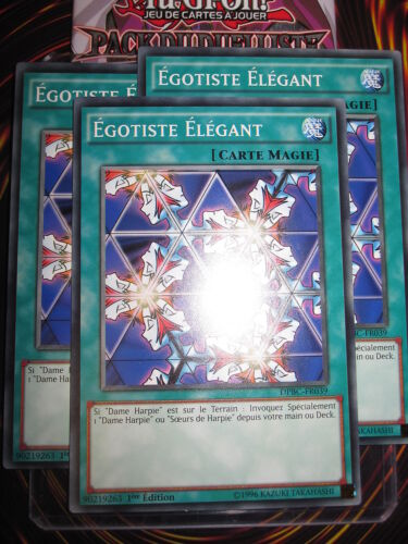 YU-GI-OH COM EGOTISTE ELEGANT LOT DE 3 PLAYSET DPBC-FR039 NEUF MINT FRANCAIS