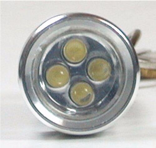 2x ALUMINUM 4 White LED Flashlight Super Bright Key Chain Light NEW Water Resist