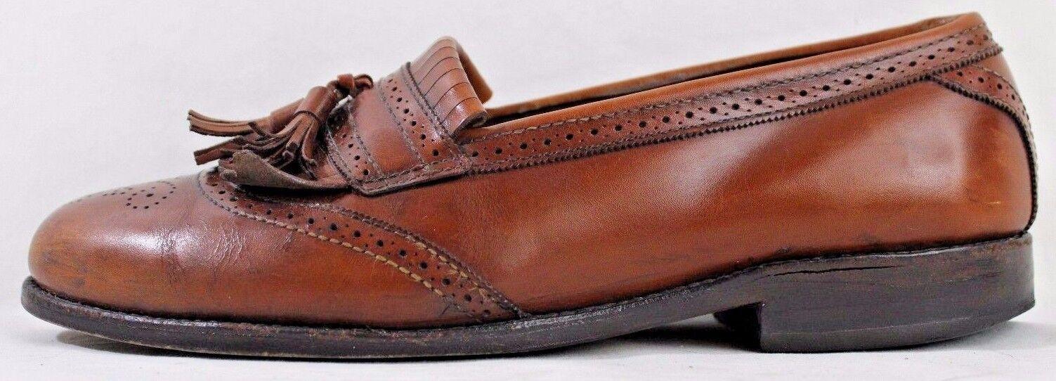 Allen Edmonds Men's shoes Size 9 1 2C Bridgeton Brown Leather Kiltie Tassels