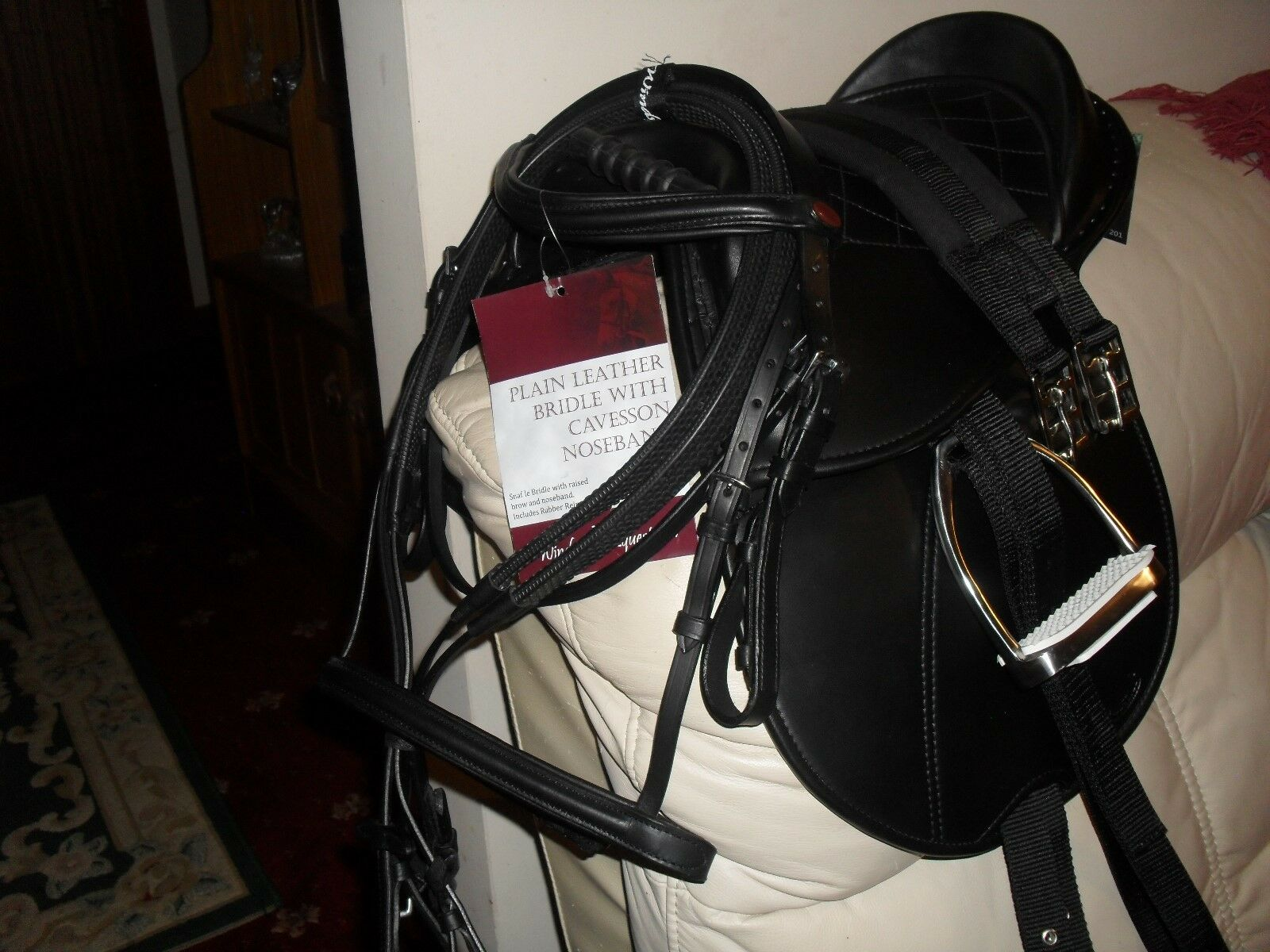 New Rhinegold  Cub Saddle Set,Bridle, Irons,Leathers,Girth, PRICE REDUCED TO SELL  the best selection of