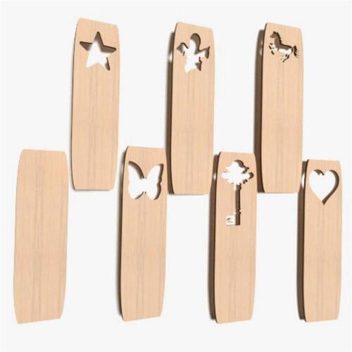 10x Lesezeichen blank Form Holz Basteln Dekoration Malen Aufhängen BOOKMARS NW