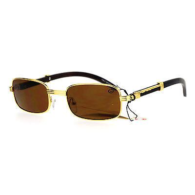 SA106 Wood Buff Retro 90s Hip Hop Rapper Gangster Sunglasses