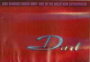 1963 Dodge Compact Voitures Concessionnaire Sales Brochure/catalogue : Cible,gt I4eei83d-07222130-174706019