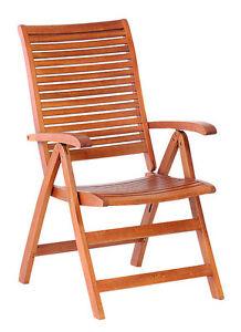 Sedia sedie legno poltrona regolabile 5 posizioni giardino for Sedie per piscina