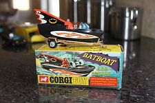 Corgi Toys 1968 Batman & Robin Batboat & ORIGINAL BOX