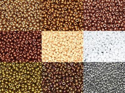 10//0 Preciosa Czech Glass Seed Beads PEARL BEIGE  20 grams