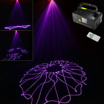 UV Light Laser Projector Sound Active 8CH Stage Lighting DMX512 Party DJ Show