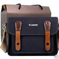 Canon Rebel T5i T4i T3i T2i T1i Canvas Camera Case Bag Shoulder Strap /navy