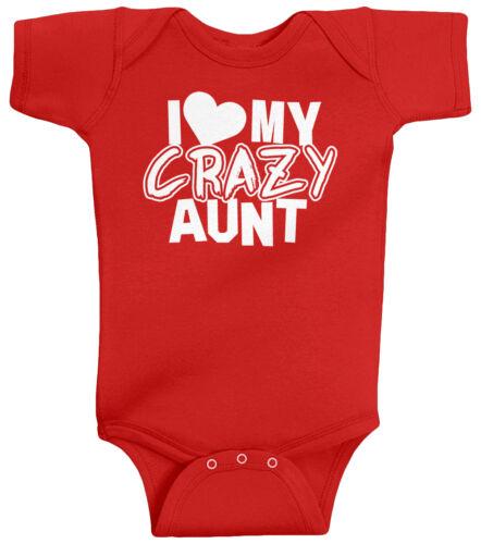 Threadrock Baby I Love My Crazy Aunt Infant Bodysuit Funny Niece Nephew Saying