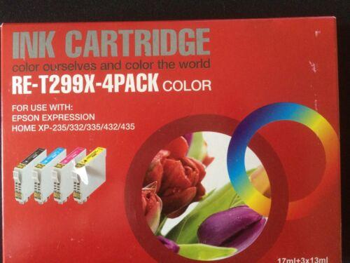 for epson nonoem ink xp235//332//335//432//435 printer black cyan magenta yellow