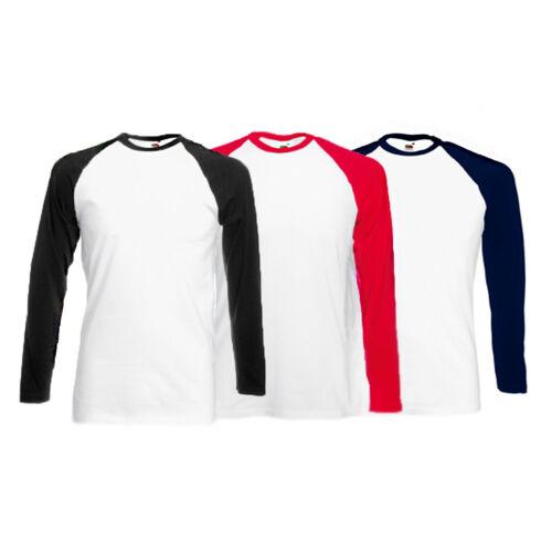 Raglan Langarm Zweifarbig Langärmeliges T-Shirt 3 Farben Erhältlich