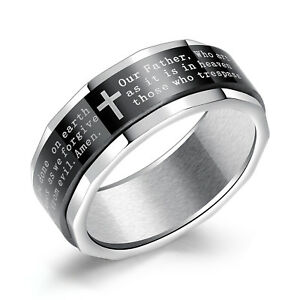 Fashion Titanium Boys Men Black The Flash Symbol Stainless Steel Polished Ring