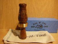 40th Rnt Rich-n-tone Short Barrel Granadillo Wood Mallard Duck Call Custom