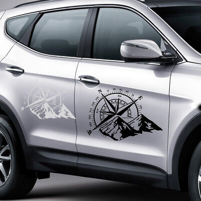 47.5x34.5cm Off Road Car Hood Side Body Compass Vinyl Sticker Decal Waterproof