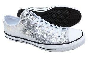e9df51743d5f Image is loading Converse-All-Star-Silver-Glitter-Chuck-Taylor-135851C-