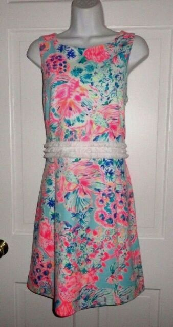 478de5edc324c6 Lilly Pulitzer Serene Blue Gypsea Arden Shift Dress XL for sale ...