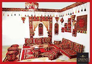 orientalische sitzecke orientalisches sofa bodenkissen. Black Bedroom Furniture Sets. Home Design Ideas