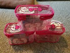 HELLO KITTY 40th Anniversary Carry All Case *LOT OF 3* Contains 20 Items! NEW!