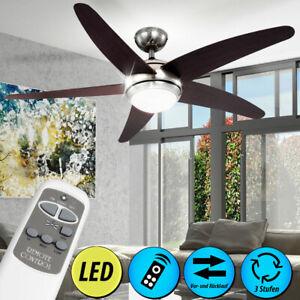 Leiser RGB LED Decken Ventilator Raum Lüfter Wärmer Farbwechsler Leuchte dimmbar
