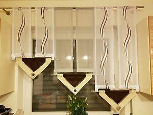 Gardinen set gardine modern küche komplett breite 135 | eBay