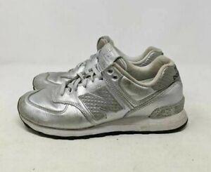 Details about New Balance Womens 574 Glitter Punk Running Shoes Metallic WL574NRI Lace Up 9 M