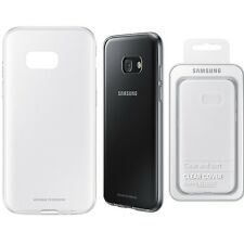 Original Samsung caso claro GALAXY A3 2017 SM 320F Teléfono Celular Móvil Cubierta Trasera