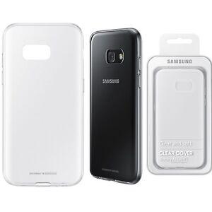 huge discount 8ad9a 92de9 Details about Genuine Samsung CLEAR CASE GALAXY A3 2017 SM320F smart phone  back cover original