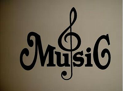 CLEF MUSIC NOTES VINYL WALL DECAL STICKER HOME DECOR ART