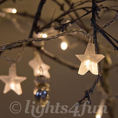 Star Fairy Lights 30 Warm White LED Indoor Bedroom Christmas String Lights