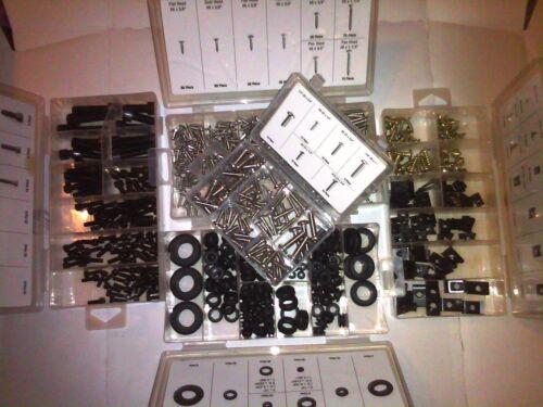 833PC HEX CAP U-CLIPS /& GROMMETS INTERIOR EXTERIOR DASH STAINLESS STEEL SCREWS