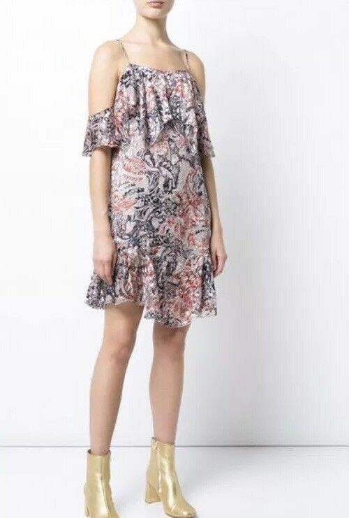 NWT IRO Beverly Ruffle Dress SZ 40 SZ 8 US