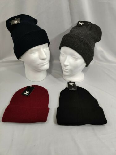 INSULATED KNIT CUFFED BEANIE WINTER HAT SKI SLOUCHY CAP WARM ONE-SIZE-FITS-ALL