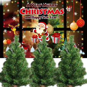 competitive price 12228 9c85b Details about Small Fake Christmas Tree Holiday Season Indoor Outdoor Party  Decoration Stand