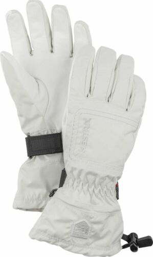 2018 HESTRA C Zone Powder Female Ladies Ski Glove Size 8 White 32620 waterproof