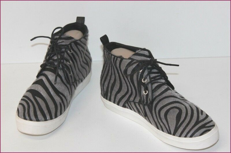MY.e High-top Sneakers Fur Synthetic Zebra T 36 TOP CONDITION