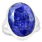 Indian Sapphire 925 Sterling Silver Ring Jewelry s.6.5 SAPR1088