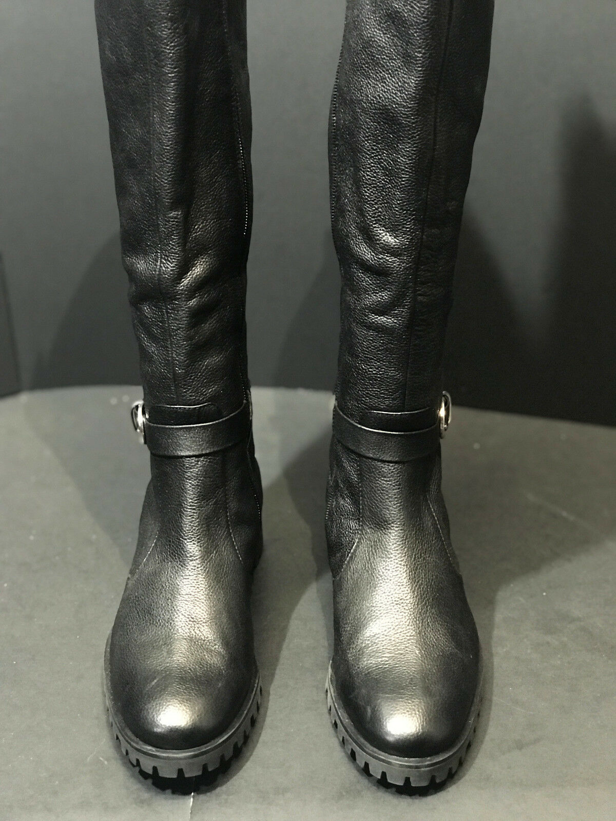 NEW Tesori Valencia Women's Leather Riding Boots Size US US US 6.5M New cf496a
