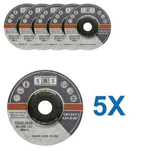 5-DISQUES-MEULER-125-x-6-MM-MEULEUSE-TRONCONNEUSE-ACIER-METAL-INOX