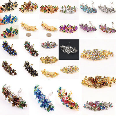 Wholesale 12 pcs Set Of Crystal Barrette With 6 Different Color