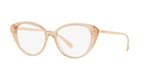 Authentic Versace 0VE 3262 B 5215 TRANSPARENT BROWN Eyeglasses