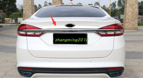 Stainless steel Tail Rear Trunk Lid Cover Trim For Ford Fusion Mondeo 2017-2018