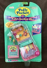 Vintage POLLY POCKET pollypocket 1996 POLLY'S BOWLING ALLEY NIB/NEW ULTRA RARE
