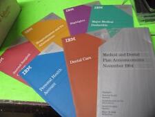 VINTAGE IBM EMPLOYEE MEDICAL AND DENTAL PLAN ANNOUNCEMENTS NOVEMBER 1984