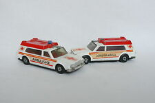 Matchbox 1/43 - Lot de 2 Ambulance