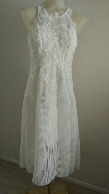 18cdce84f18b Thurley Bianca Dress Size 10 Ivory white BNWT RRP  700