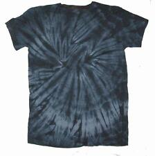 PETITE BLACK SPIDER TYE DYED TEE SHIRT unisex SMALL hippie tie dye PET10 new