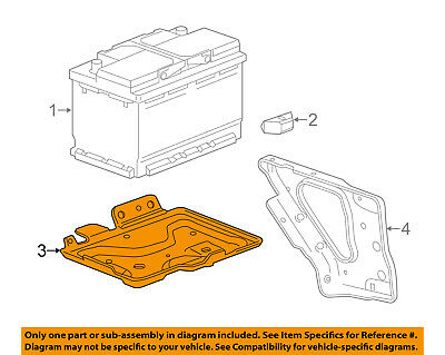 GM OEM-Battery Tray 22989633
