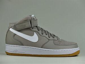 Nike-Air-Force-1-une-mi-07-Chaussures-Homme-Haut-Top-Baskets-en-Cuir-315123-204
